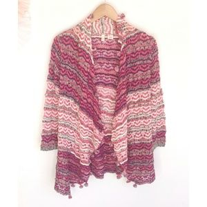 Anthropologie Sweaters - Anthropologie Moth Kasimira Pink Pom Pom Cardigan